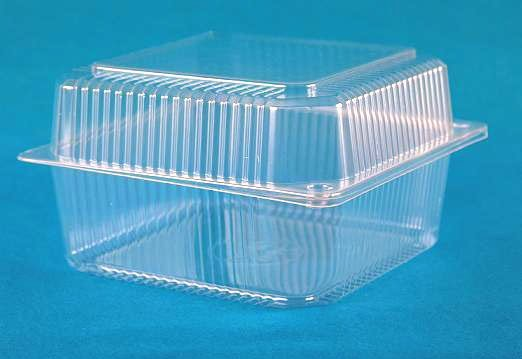 Plastic container with lid.