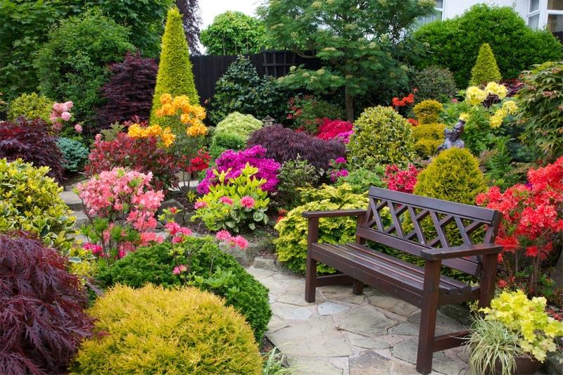 Цветочное оформление места для отдыха.