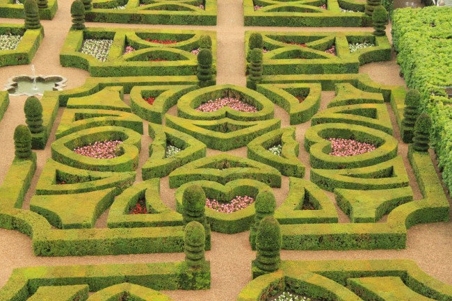 Масштабность регулярного сада