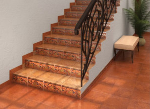 Laid ceramic tiles on the steps with their hands – tips for the beginner + video