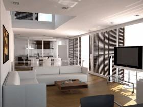 Идея дизайна совмещенной гостиной