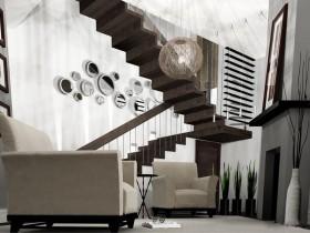 Конструктивизм в дизайне лестничной площадки