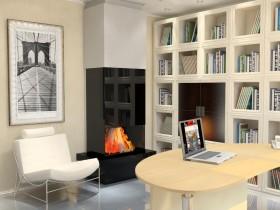 Constructivism uslubi bilan fireplace