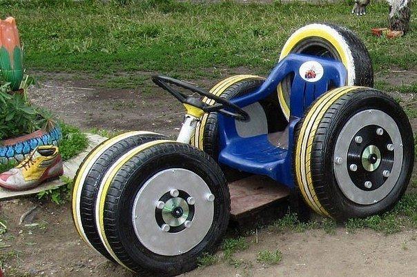 детская машина своими руками поделка