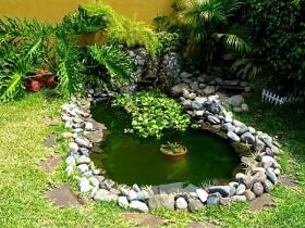 Маленький водоем в саду