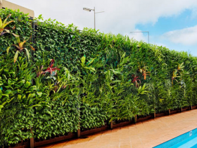Vertical gardening fence