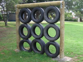Vertical gardening garden tires