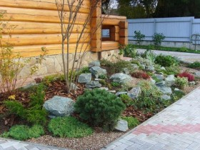 Simple rock garden at the cottage