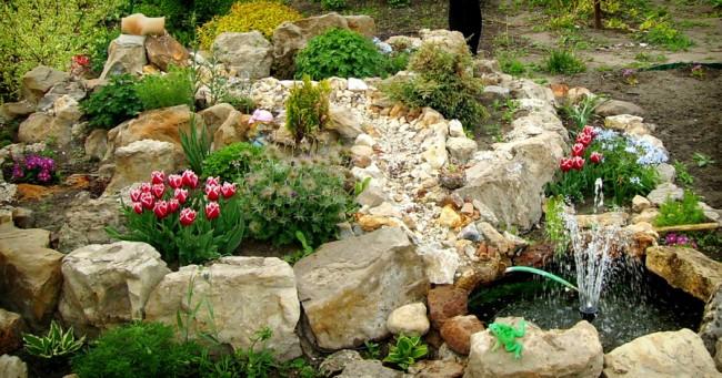 Камни для альпийской горки - залог эффектного дизайна