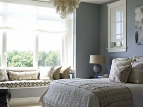 Bedroom interior with elements of American style
