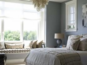 Інтэр'ер спальні з элементамі амерыканскага стылю