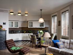 Interior American style kitchen