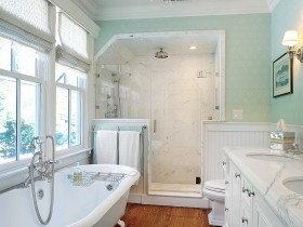 Interior white bathroom