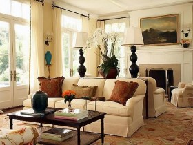 Living room interior design in American style