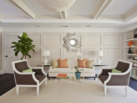 White living room in a private house