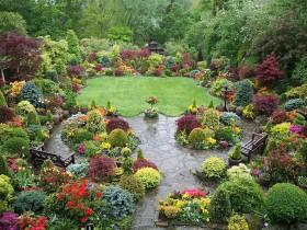 Английский стиль сада