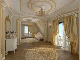 Antique style in white and Golden shade