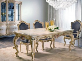 Beautiful table, complement the antique style of the room