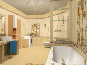 Project modern bathroom in antique style