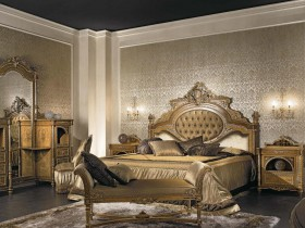Bedroom design in antique style