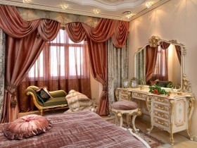 Curtains in antique style