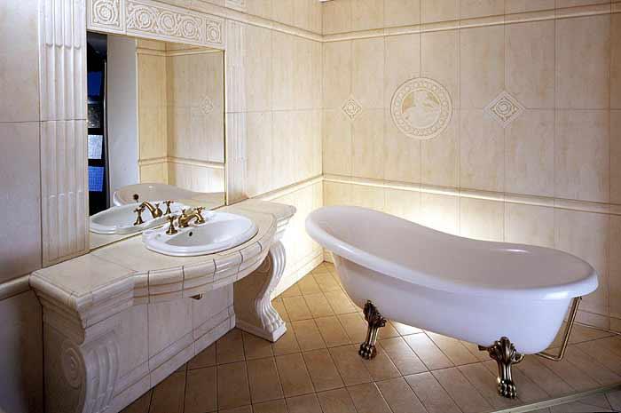 Дизайн ванны в греческом стиле