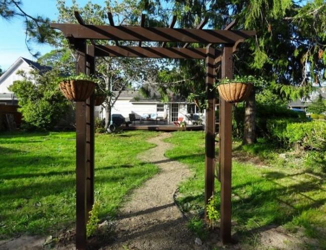 садовая арка из дерева своими руками пошаговая инструкция