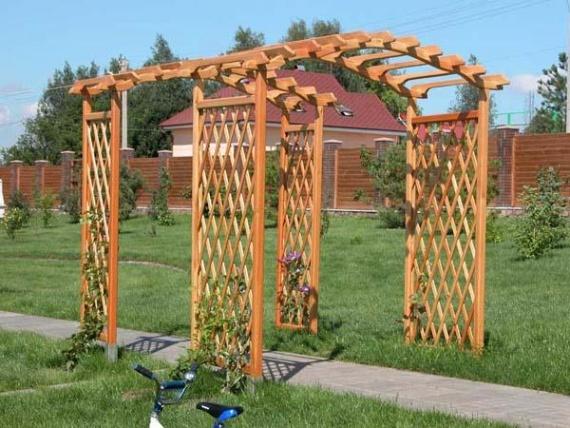 Готовая деревянная арка