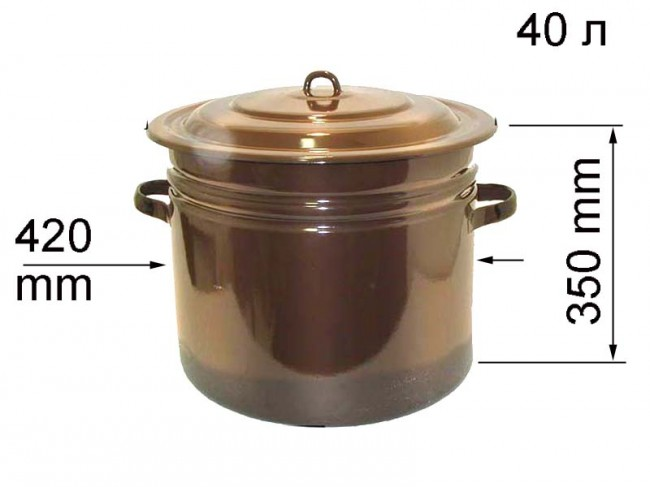 Эмалированная емкость для воды в бане