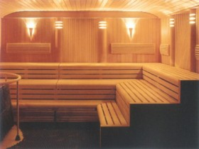 Steam in the Finnish sauna