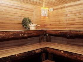 A traditional Russian sauna
