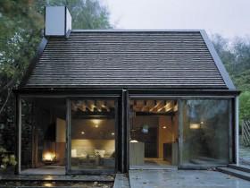 Дизайн бани со стеклянным фасадом