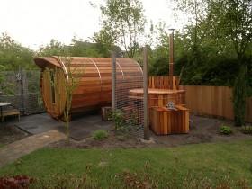 Bath in a barrel