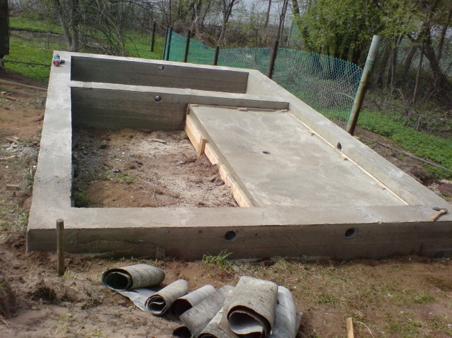 Фундамент кирпичной бани
