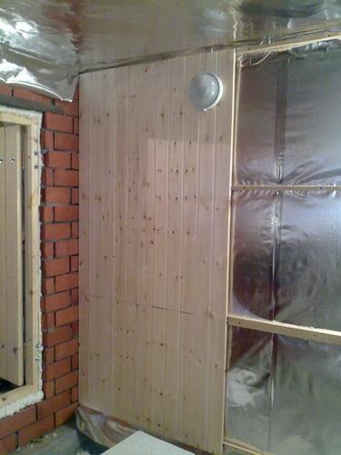 Как правильно обшить стены бани 5