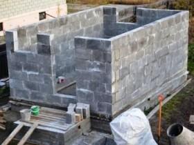 Cinder blok devorlari vannalar