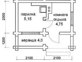 Как построить баню из пеноблока 21