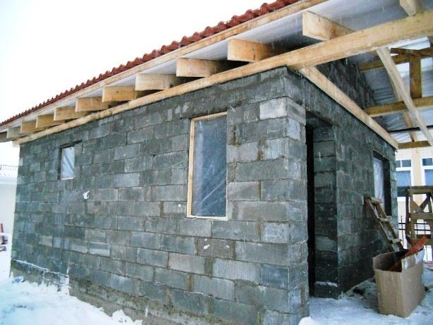 Строительство бани из шлакоблока своими руками