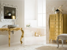 Furniture with gilding in the Baroque style