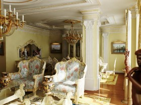 Living room with Baroque elements