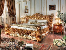 Rich bedroom design
