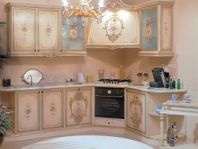 The kitchen is in the Baroque style