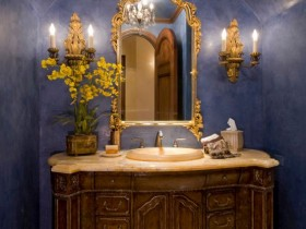 Design washbasin in the Baroque style