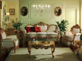 Living room interior in Baroque style