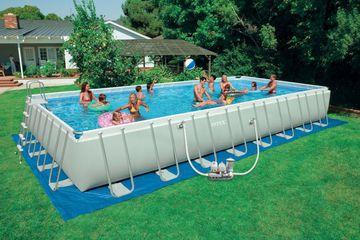 Прямоугольный каркасный бассейн Intex для большой компании