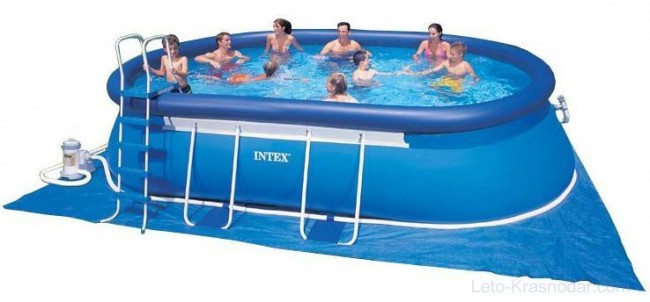 """Овальный надувной бассейн """"Intex"""""""