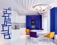 Bright kitchen in the style of kitsch
