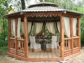 Cozy gazebo for the garden with their hands
