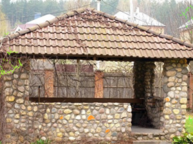 Gazebo with natural stone