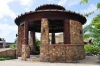 Крэатыўны дызайн каменнай альтанкі